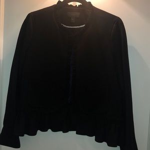 Black Wool J. Crew blazer with ruffle detail!
